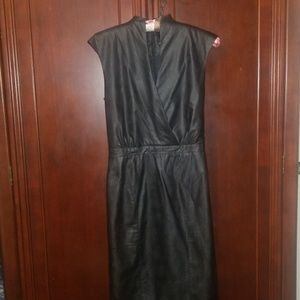 Bebe Leather Midi Dress